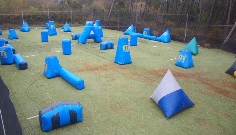 the layout for the morbihan paintball league in britannies