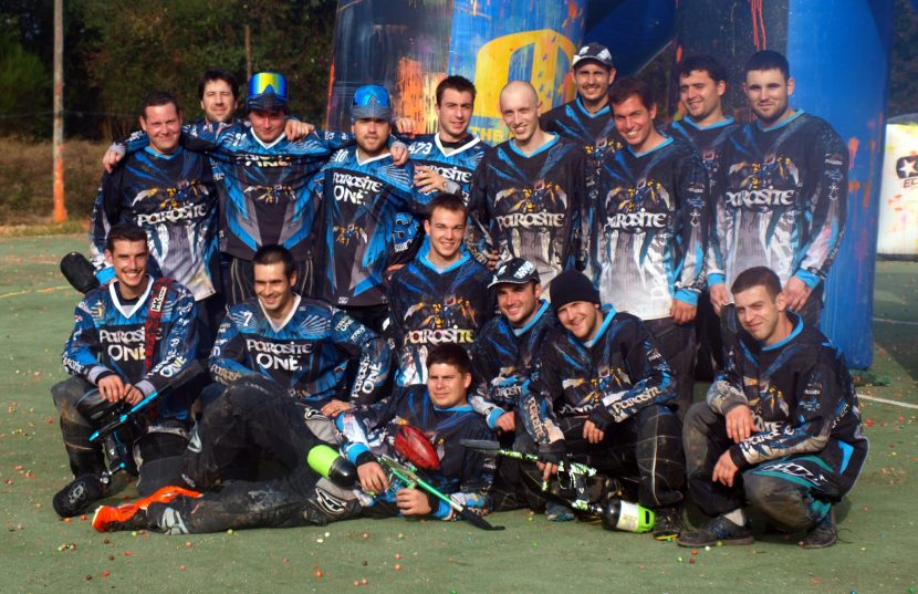 the french team the parasites paintball