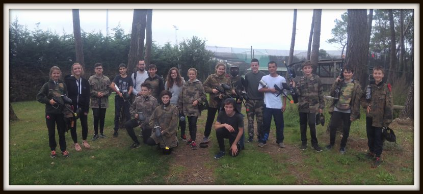 queven jeunesse fait du paintball