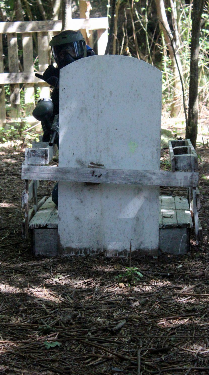 le cimetière zone fortifiée