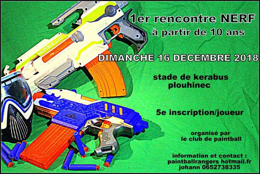 ouverture section nerf au sein du club de paintball